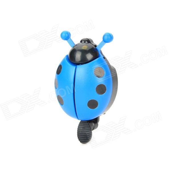 Mini Spot Ladybird Style Aluminum Alloy & Plastic Bicycle Bike Bell Ringer - Blue + Black gineyea aluminum alloy bike seatpost clamp blue