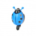 Mini Spot Ladybird Style Aluminum Alloy & Plastic Bicycle Bike Bell Ringer - Blue + Black