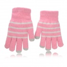 ST-2 Capacitive Screen Hand Warmer Touching Touch Gloves for iPhone 5 / iPad Mini - Pink (2 PCS)