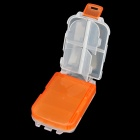 Multi-Function Three Layer Portable Pill Case Organizer Box - Transparent + Orange (8-Grids)
