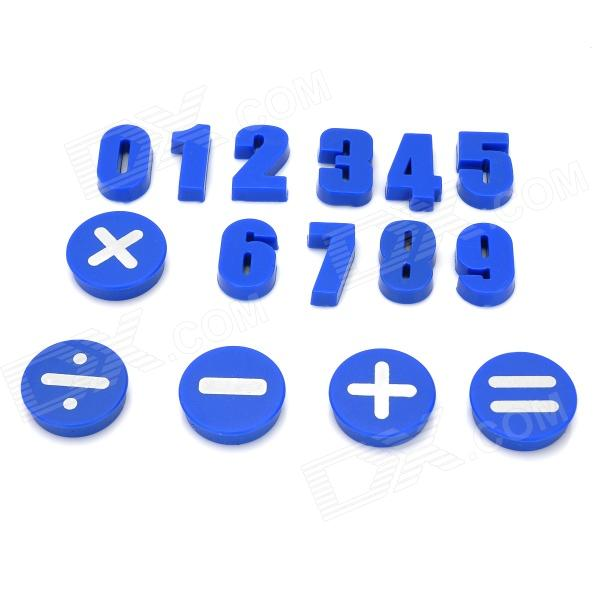 Funi CT-992 Arabic Numerals Numbers Symbol Shape Magnet Stickers - Blue (15 PCS)