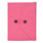 Briefcase Style Protective PU Leather Case for Ipad 2 / 3 / 4 - Deep Pink