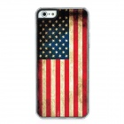 The US Flag Protective Plastic Back Case for iPhone 5 - Red + Yellow + Blue