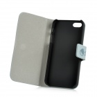 Cute Cartoon Style Protective PU Leather Case for Iphone 5 - Grey