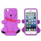 Cute Bear Style Protective Case for iPhone 5 - Purple