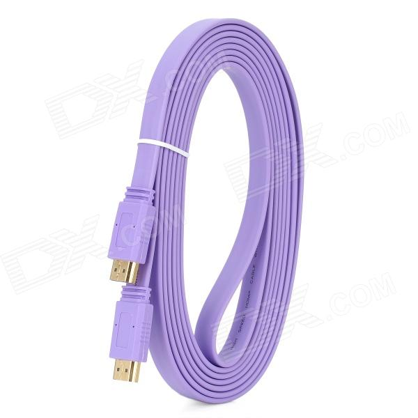 HDMI V1.4 Male to Male Flat Connection Cable - Purple (300CM) 1080p hdmi v1 4 male to male flat connection cable purple 5m length