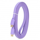 HDMI V1.4 Male to Male Flat Connection Cable - Purple (300CM)