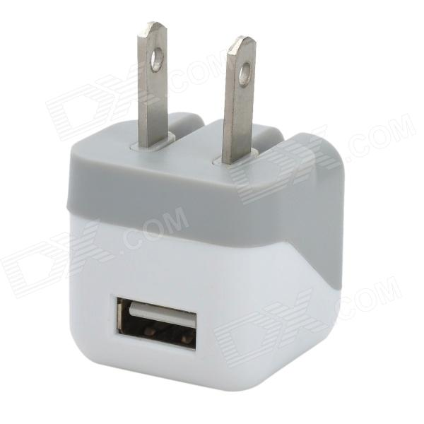 AC Power Charger Adapter for IPHONE - White + Grey (US Plug / 100~240V) ac power adapter for xbox 360 slim eu plug ac 100 240v