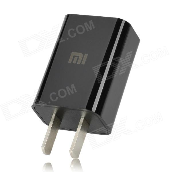 Mini 2-Flat-Pin Plug Power Adapter for iPhone 4 / 4S / 5 - Black (100~240V)