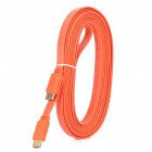 HDMI V1.4 Male to Male Flat Connection Cable - Orange (300CM)