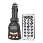 "1.1"" LCD Car MP3 Player FM Transmitter w/ Remote Controller / USB / SD / TF - Black (DC 12~24V)"