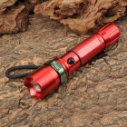NEW-3600 Cree XP-E R2 270lm 3-Mode White Zooming Flashlight - Red + Green (1 x 18650 / 3 x AAA)