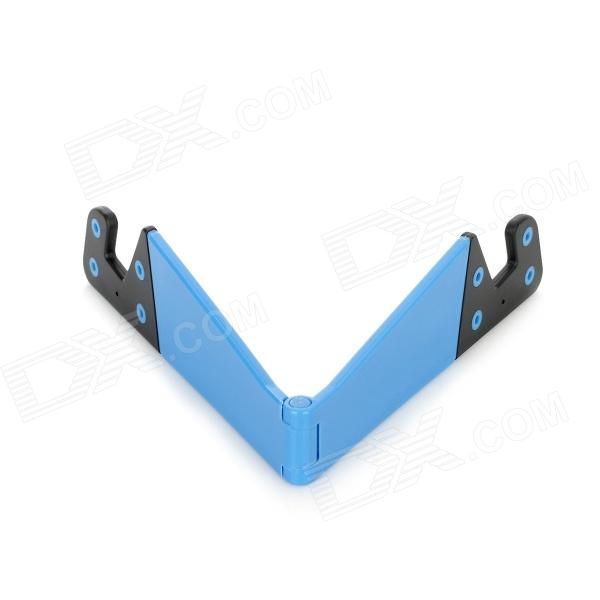 Adjustable Folding Mobile Phone Stand Holder - Blue + Black
