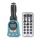 "1.1"" LCD Car MP3 Player FM Transmitter w/ USB / SD / TF / Remote Controller - Black + Blue"