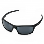 BaoLina 5022 Sports Riding Grey Resin Lens UV400 Protection Sunglasses - Black