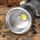 NEW-630 900lm 5-Mode White Zooming Flashlight w/ CREE XM-L T6 - Black + Silver (1 x 18650)