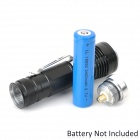 NEW-630 CREE XM-L T6 900lm 5-Mode White Zooming Flashlight - Black + Silver (1 x 18650)