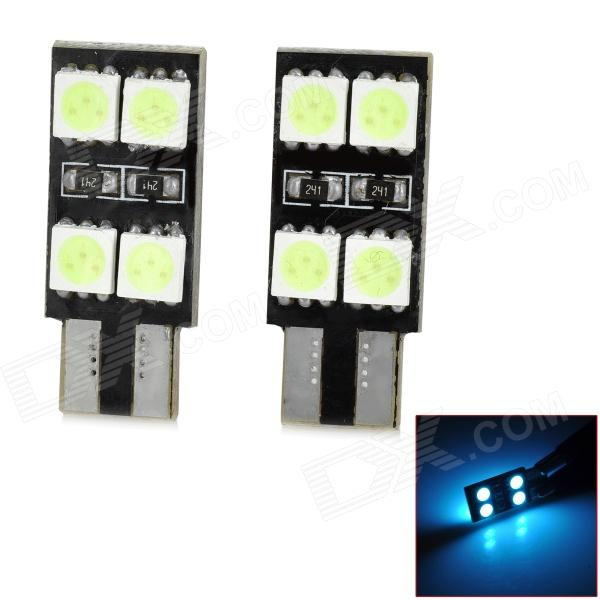 SENCART T10 1.6W 112lm 8-SMD 5050 LED Ice Blue Car Decoration Light (12~16v / 2 PCS) 10pcs t10 bright car led w5w 5050 5 smd white blue red interior lights wedge reading lamp trunk bulbs license plate light dc 12v