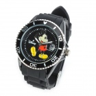 Genuine Disney DSN-0367 Mickey Mouse Style Water Resistant Quartz Wrist Watch - Black (1 x SRW626)