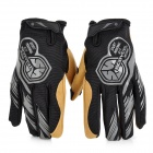 SCOYCO Full Finger Bicycle / Motorcycle Riding Gloves for Men - Black + Khaki (Size-L / Pair)