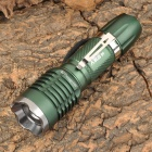 NEW-G11 Cree XP-E R2 270lm 3-Mode White Zooming Flashlight - Dark Green (1 x 18650 / 3 x AAA)