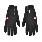Outdoor Cycling Screen Touching Full-Finger Hand Warmer Gloves for Men - Black (Size XL / Pair)