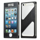 Protective Flip Open Aluminum Alloy Case for Iphone 5 - Black