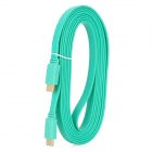 HDMI V1.4 Male to Male Flat Connection Cable - Green (300CM)