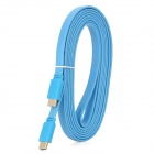 HDMI V1.4 Male to Male Flat Connection Cable - Blue (300CM)
