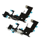 Replacement Charging Dock Port Connector Flex Cable for iPhone 5 - White + Black (2 PCS)