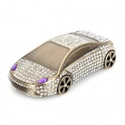 Shining Rhinestone Car Model Style Air Freshener Perfume Diffuser w/ Anti-Slip Mat - Black