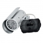 FK-CCTV7 Realistic Dummy Surveillance Security Camera w/ Flashing Red LED Light - Silver (2 x AAA)