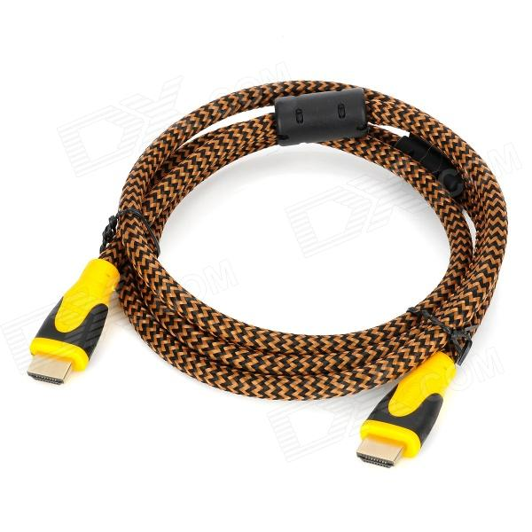 HDMI V1.3 Male to Male Connection Cable - Brown + Black + Yellow (150CM) hdmi v1 4 male to male connection cable w 2 hdmi adapters black 150cm