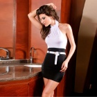 2410 Elegant Sexy Fashion Office Lady Dress - Black + White