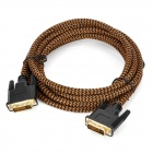DVI 24+1 Male to Male Connection Cable - Brown + Black (3m)