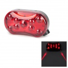 JSD-1203 2-Mode 8-LED Red Light Bike Safety Tail Lamp w/ Red Lasers - Red + Black (2 x AAA)