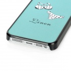 Protective Plastic Frosted Back Case for Iphone 5 - Light Blue + Black