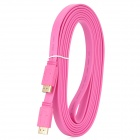 HDMI V1.4 Male to Male Flat Connection Cable - Pink (300CM)
