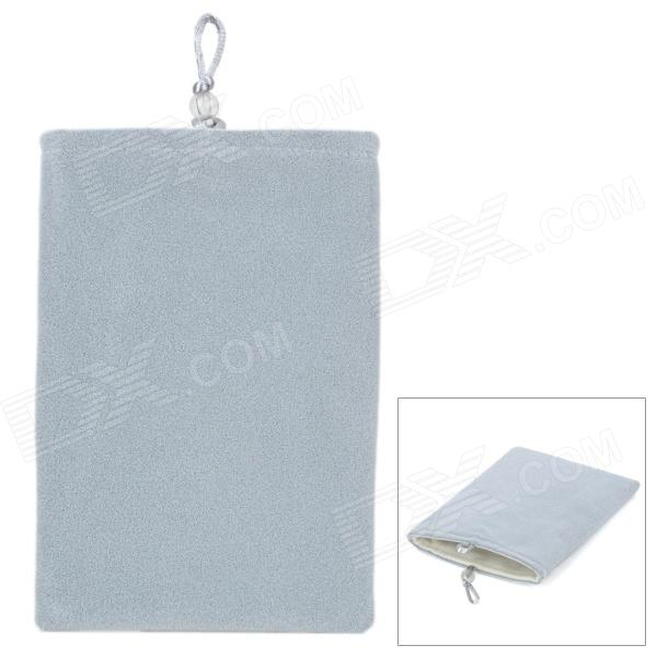 "Universal 5"" Double-Layer Flannel Bag Pouch for Cell Phone / GPS / MP3 / MP4 / E-Book - Light Grey"