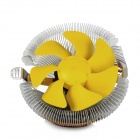 HengShan B90 CPU Cooling Cooler for Intel / AMD Desktop Computer - Yellow + Silver