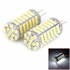 G4 5.5W 510lm 102-SMD 1210 LED White Light Crystal Ceiling Lamp (12V / 2 PCS)