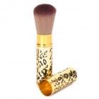 Professional Retractable Cosmetic Makeup Long Soft Brush - Golden + Black