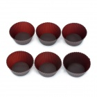 Cute Silikon DIY Kuchen / Dessert Mould - Kaffee (6 PCS)