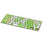 Camouflage Style Silicone Keyboard Cover Protector for Apple MacBook Pro - White + Green + Yellow