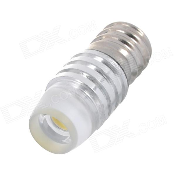 E12 1.5W 90lm 1-LED White Light Decoration Light - Silver (12V)