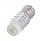 E12 1.5W 90lm 1-LED White Light Dekoration Licht - Silver (12V)