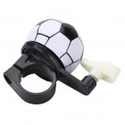 Mini Football Style Aluminum Alloy & Plastic Bicycle Bike Bell Ringer - White + Black