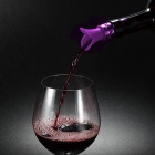 Creative Lily Shape Silicone Wine Pourer Stopper - Purple + Yellow Green