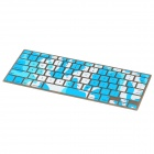 Camouflage Style Silicone Keyboard Cover Protector for Apple MacBook Pro - White + Blue