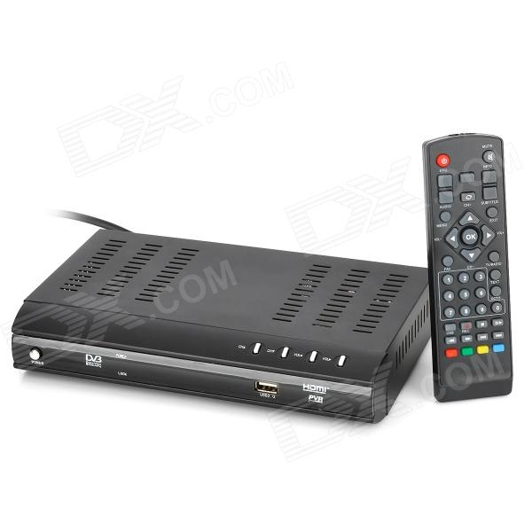 HDVB-8703 HDTV MPEG4 H.264 DVB-T Digital Terrestrial Receiver w/ PVR / HDMI / Scart - (EU Plug) 1080p mobile dvb t2 car digital tv receiver real 2 antenna speed up to 160 180km h dvb t2 car tv tuner mpeg4 sd hd